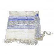 Blue Peace Star of David Acrylic Tallit Prayer Shawl