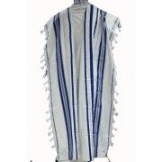Blue Silver Acrylic Mishkan Hatchelet Tallit Prayer Shawl