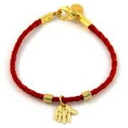 Red String Kabbalah Bracelet, GoldHamsa pendant