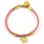 Baby Pink Bracelet, Kabbalah Hamsa pendant