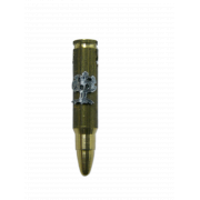 Brass Israeli Army Bullet Pendant with Golani Oak Tree Insignia