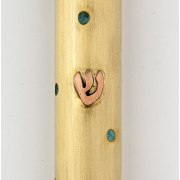 Brass with Turquoise Spots, Mezuzah Case