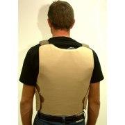 Back of Concealed Lightweight Goldflex Bulletproof Vest, Level IIIA