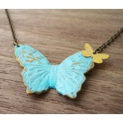 Butterfly Duo Necklace - Shlomit Ofir Jewelry