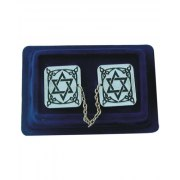 Chai Motif Purpel and Silver Stripes Acrylic, Tallit