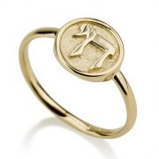 14K Gold Chai Ring