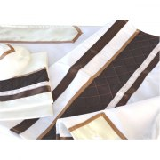 Chocolate Brown Tallit Prayer Shawl by Galilee Silks