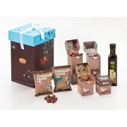 Chocolate and Olive Oil Gift Basket