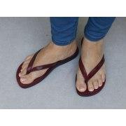 Classic Thin V-Strap Flip-Flop Handmade Leather Biblical Sandals - Sarah