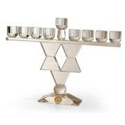 Crystal Star of David Hanukkah Menorah