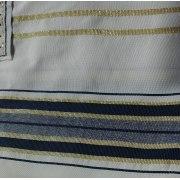 "Dark Blue and Gold Christian Prayer Shawl (72"" x 22"")"