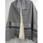 Dark Grey Viscosa Tallit Prayer Shawl