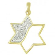 Dazzling Gold and Diamonds Star of David Necklace