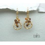 Edita - Celebration Brown - Handcrafted Israeli Earrings
