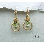 Edita - Celebration Green - Handcrafted Israeli Earrings