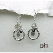 Edita - Celebration Silver -  Handcrafted Israeli Earrings