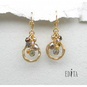 Edita - Celebration Smoky -  Handcrafted Israeli Earrings