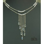 Edita - Crystal Fantasy - Handcrafted Israeli Necklace