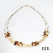 Edita - Golden Cleopatra - Handcrafted Israeli Necklace
