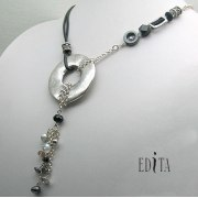 Edita - Leather Flair - Handcrafted Israeli Necklace