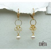 Edita - Pearls of Wisdom -  Handcrafted Israeli Earring