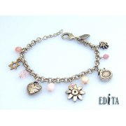 Edita - Pink Charms - Handcrafted Israeli Bracelet
