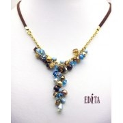 Edita - Twist of Turquoise - Handcrafted Israeli Necklace