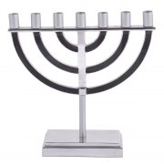 Emanuel Judaica Black Seven Branched Menorah Big