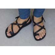 Elegant Crisscross Handmade Leather Sandals - Naomi