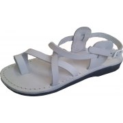 White Crisscross Handmade Leather Sandals