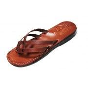 Elegant Double Strap Flip-Flog Leather Sandals  - Hagar
