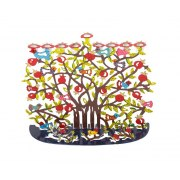 Emanuel Judaica Hanukkah Menorah Pomegranates and Birds Design