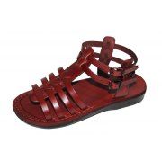 Fisherman Style Ankle Strap Open Front  Leather Biblical Sandals - Irit