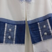 Galilee Silks Floral Blue Tallit Prayer Shawl