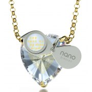 14K Gold I Love You in 120 Languages by Nano Jewelry