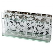 Glass Pomegranates Design Hanukkah Menorah