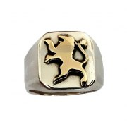 Silver and Gold Lion of Judah Ring