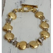 Gold and Silver Pomegranates Bracelet