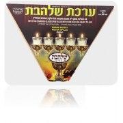Gold Domed Jerusalem Hanukkah Menorah with Oil Pitcher