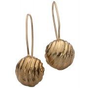 Golden Bell Earrings Hanging, Jewish Jewelry