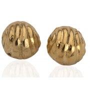 Golden Bell Stud Earrings, Israeli Jewelry