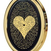 I Love You In 120 Languages on Onyx and 14K Gold Frame