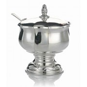 Hadad Sterling Silver Covered Honey Dish - Simply Elegant