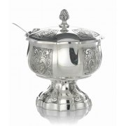 Hadad Sterling Silver Covered Honey Dish - Toscana Panels