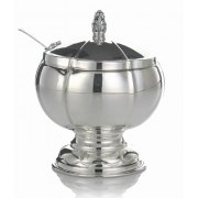 Hadad Sterling Silver Covered Round Honey Dish - Simply Elegant
