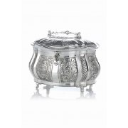 Hadad Sterling Silver Etrog Box -Toscana & Lattice Alternating Panels