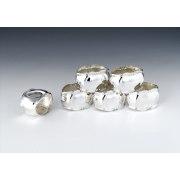 Hadad Sterling Silver Napkin Rings Set of 6 - Simply Elegant Border