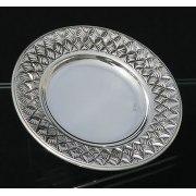Hadad Sterling Silver Saucer - Basket Weave