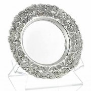 Hadad Sterling Silver Saucer - Embossed Toscany Florall
