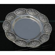 Hadad Sterling Silver Saucer - Grape Bunch Panels